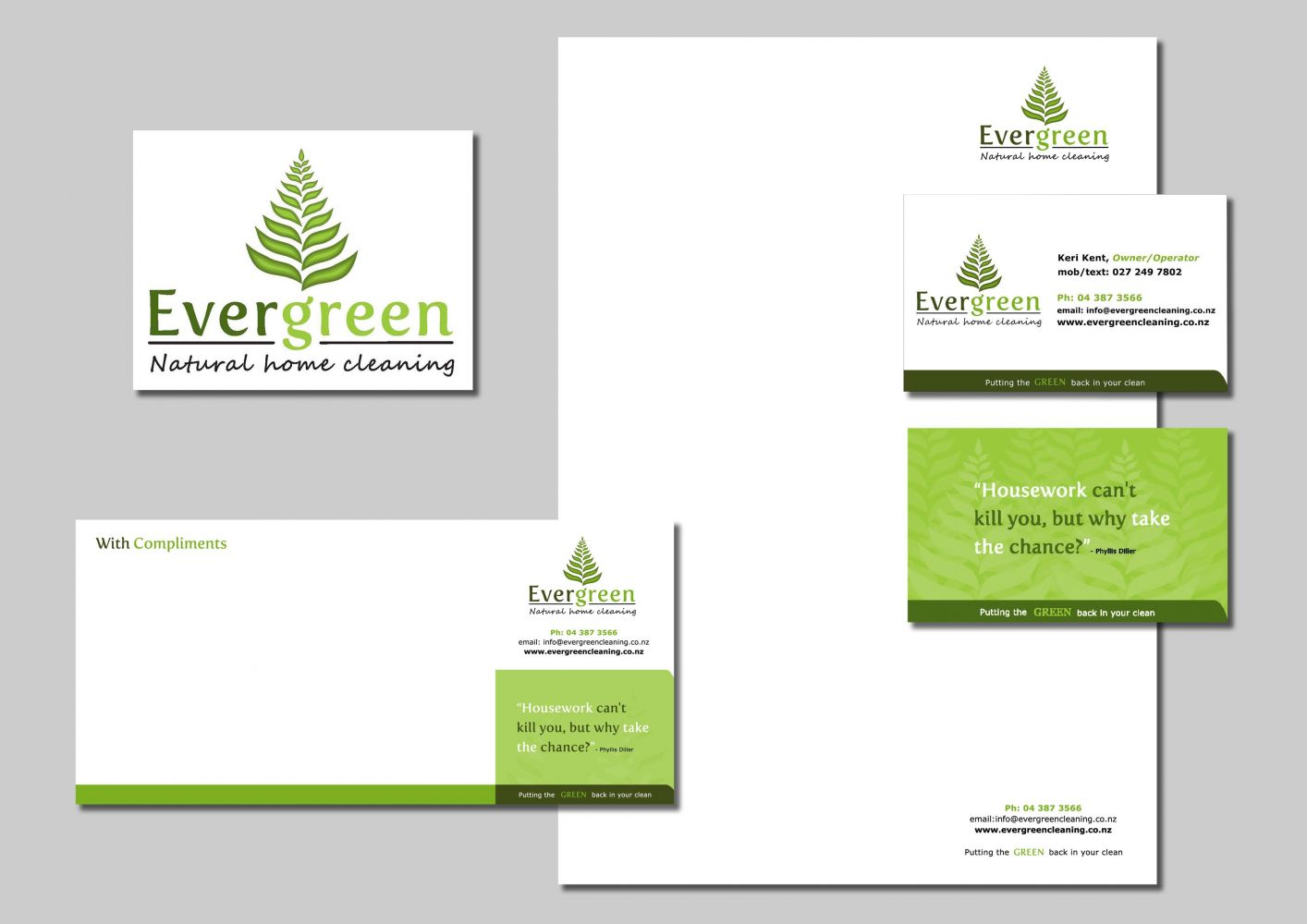 Natural Home Cleaning Business Stationery