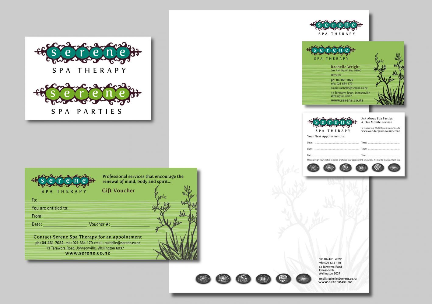 Serene Beauty Therapy Business Stationery
