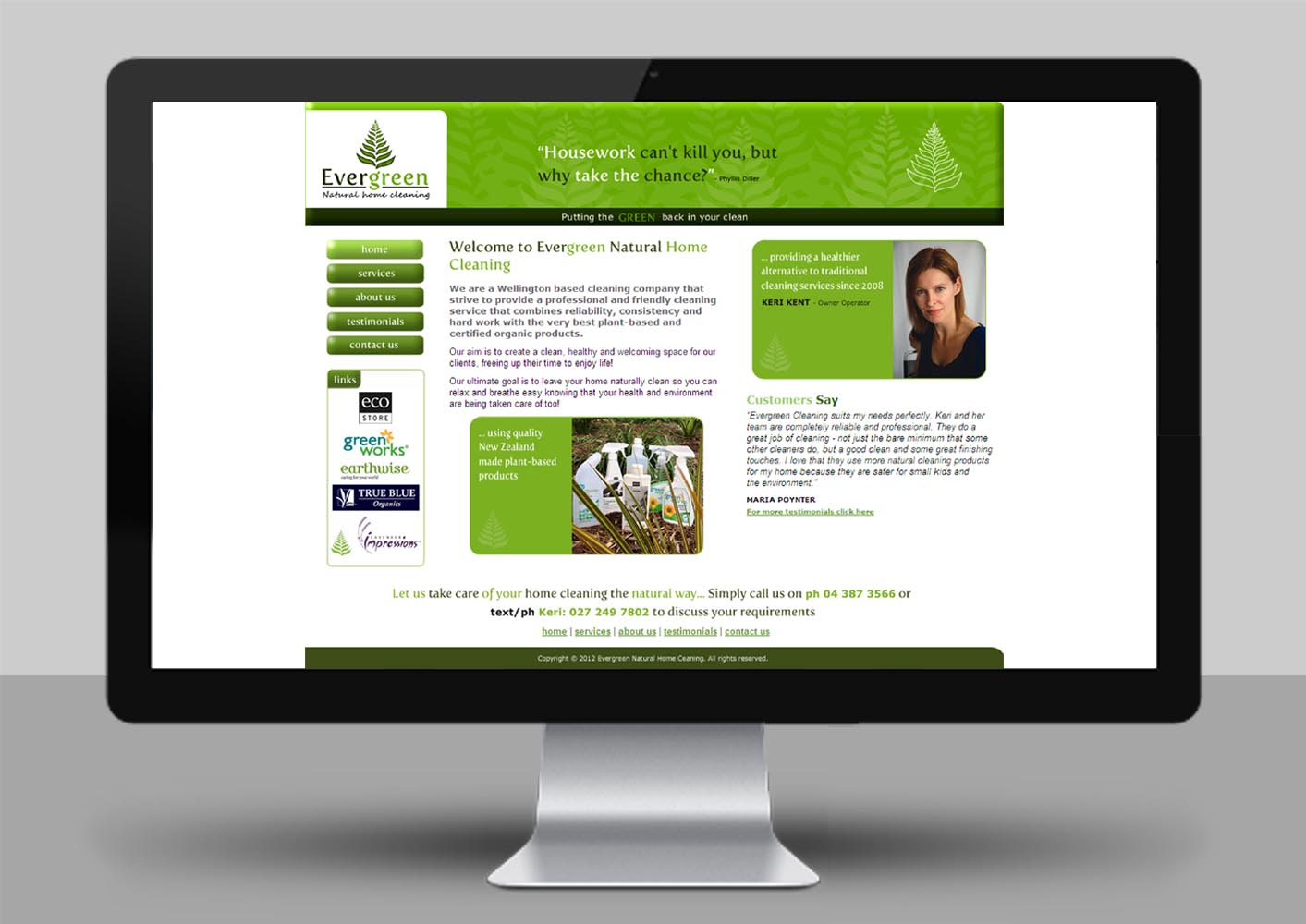 Evergreen Website Home