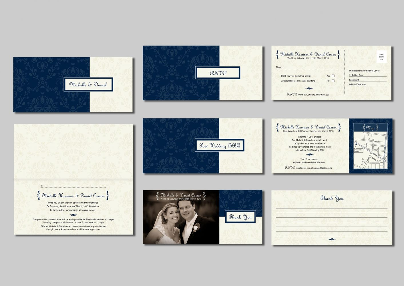 Wedding Stationery Michelle & Daniel