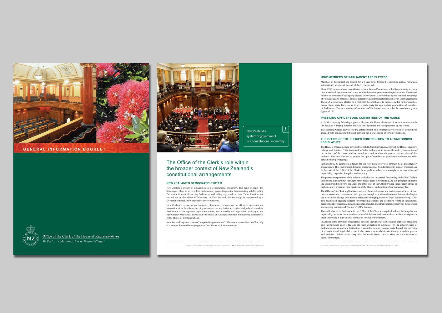 NZ House of representatives Information booklet