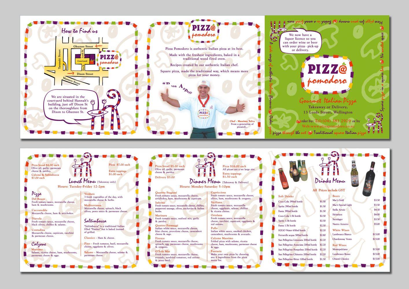 Pizza Pomodoro Brochure