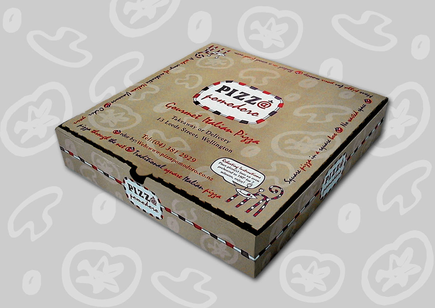 Pizza Pomodoro Packaging
