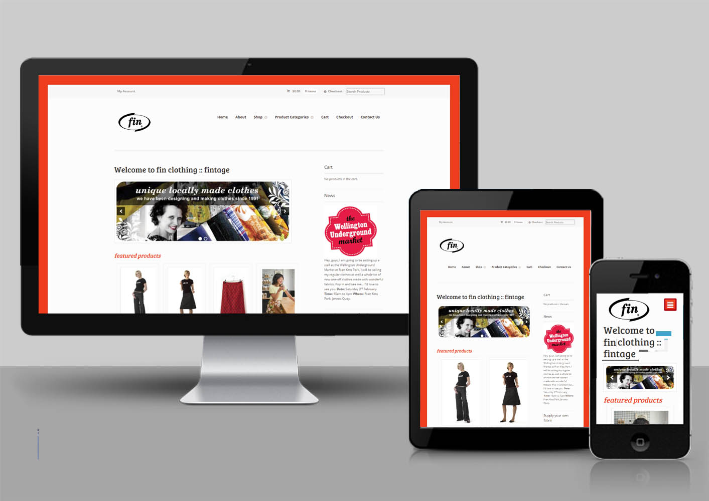 Fin Clothing Web Responsive
